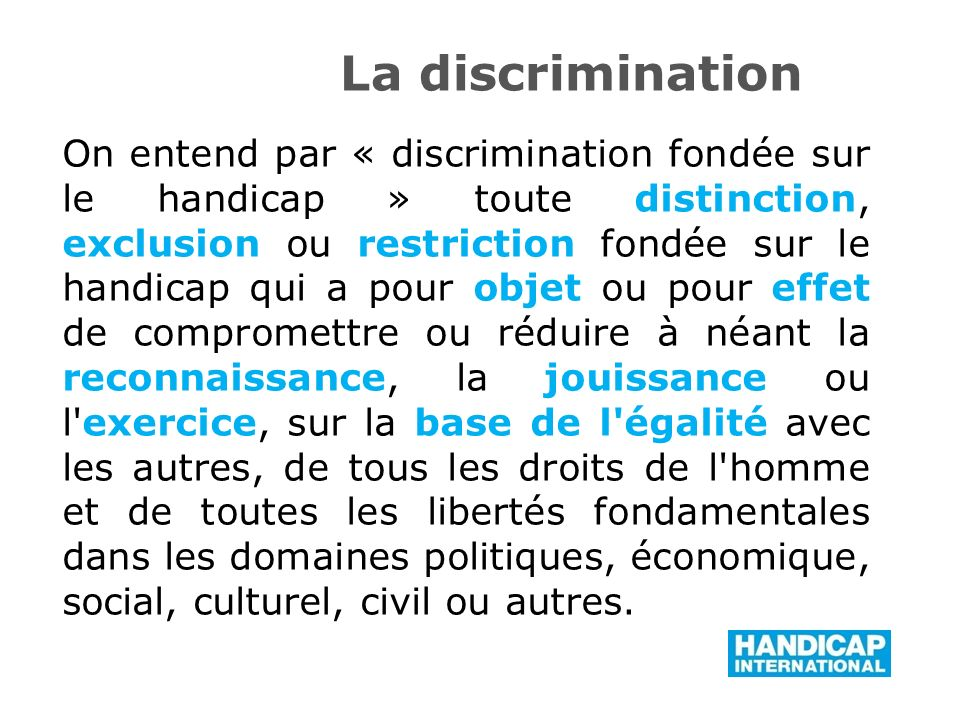 La discrimination