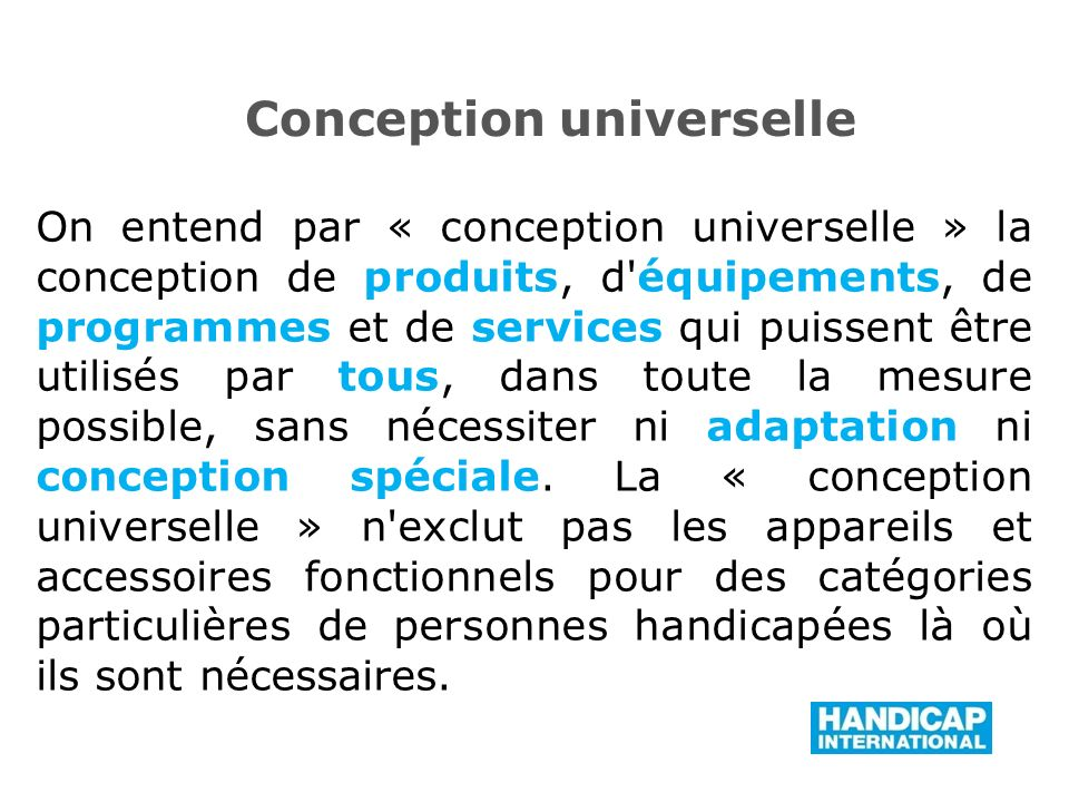 Conception universelle