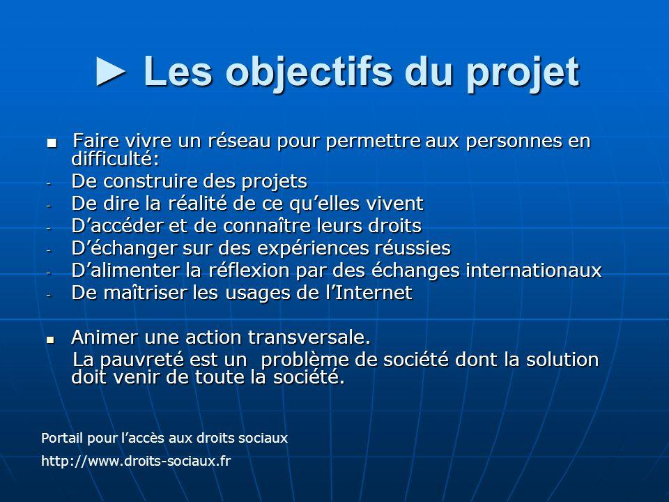 ► Les objectifs du projet