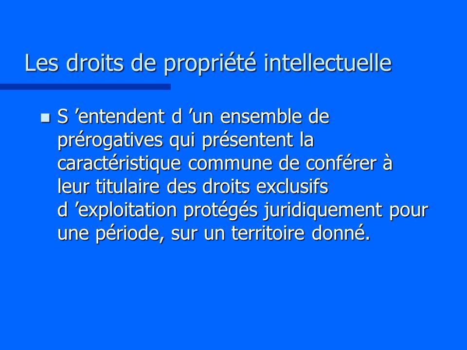 Les droits de propriété intellectuelle