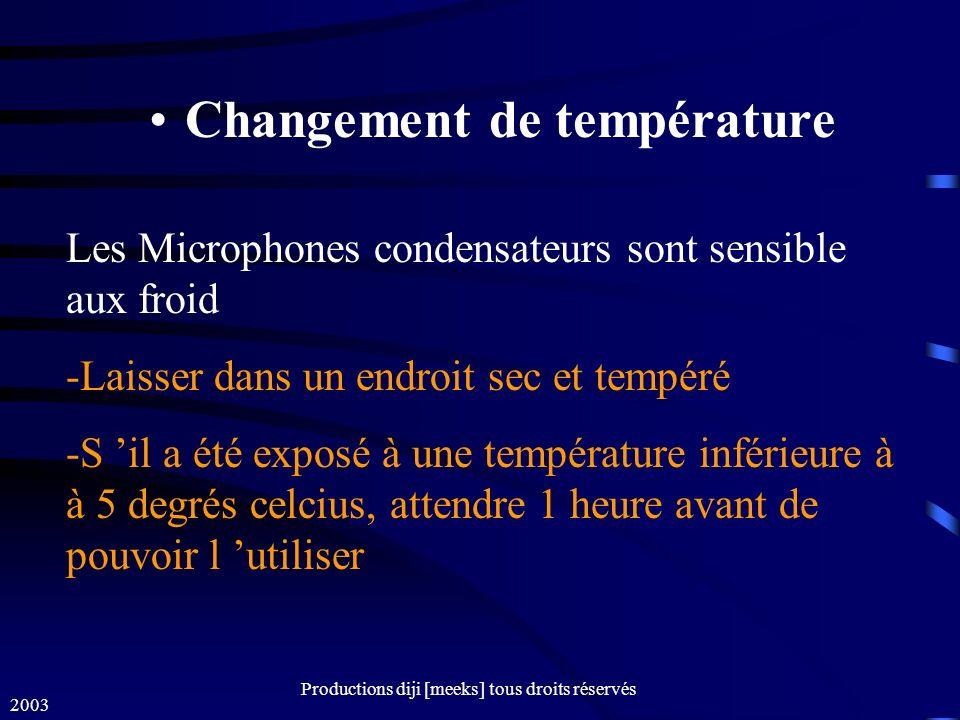 Changement de température