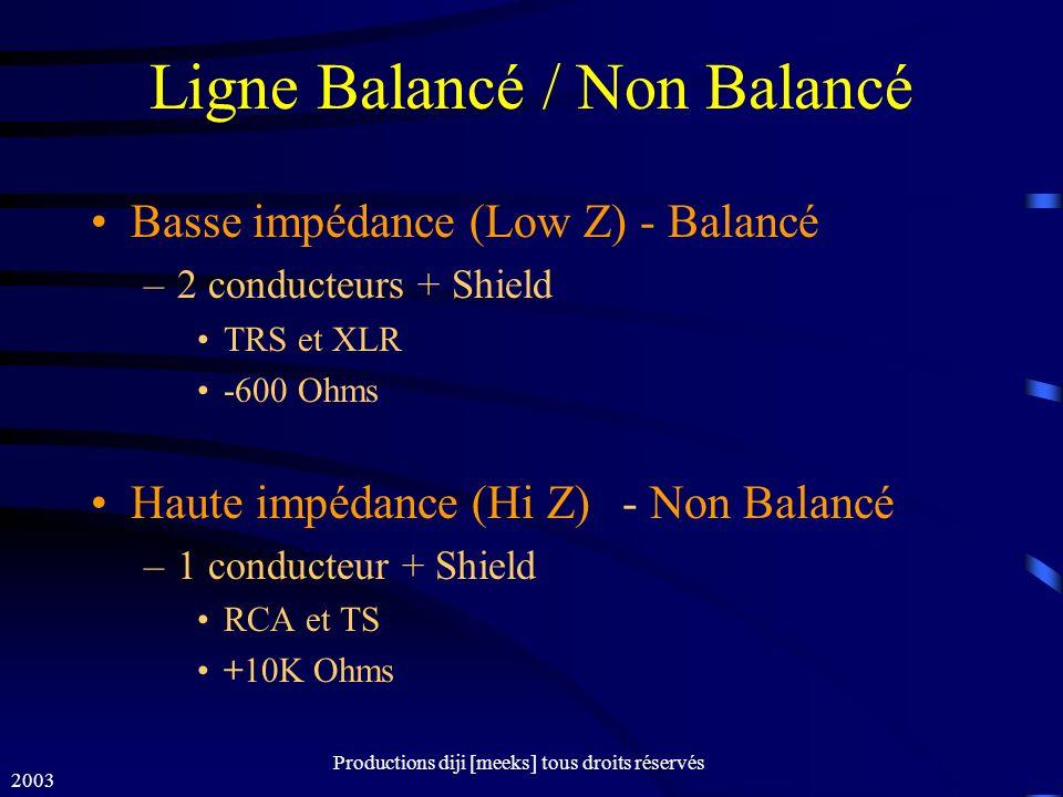 Ligne Balancé / Non Balancé