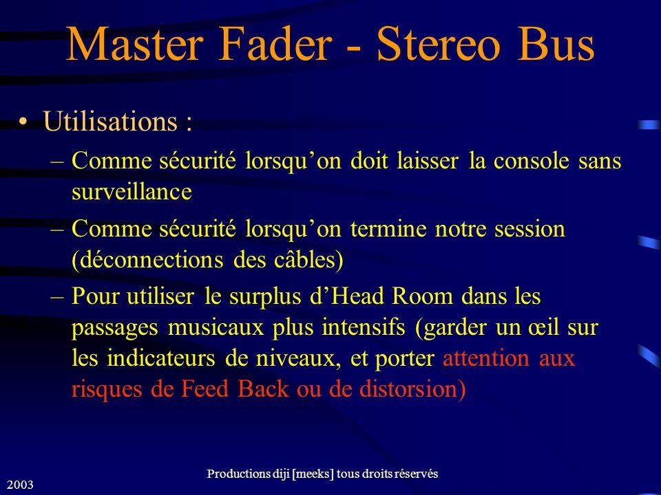 Master Fader - Stereo Bus