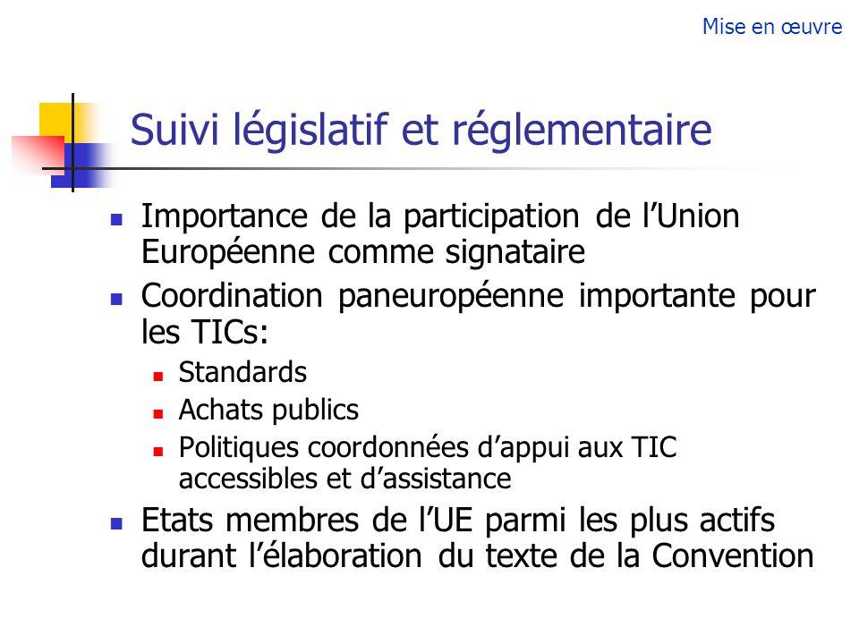 Suivi législatif et réglementaire