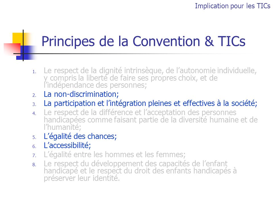 Principes de la Convention & TICs