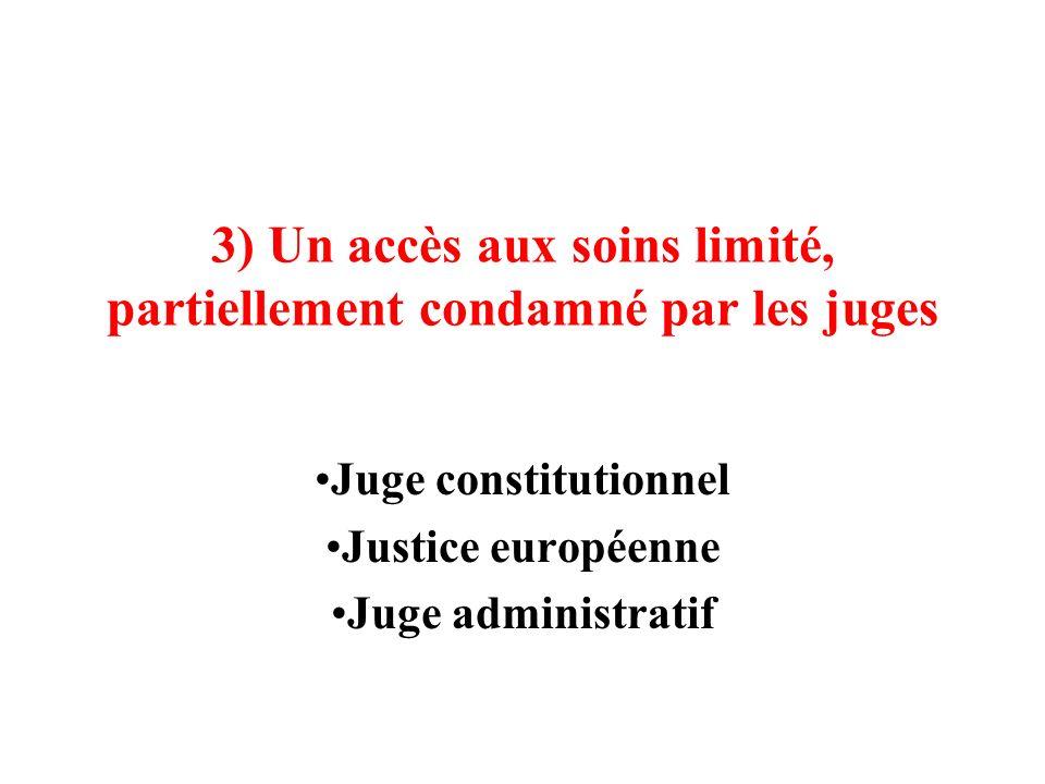 3) Un accès aux soins limité, partiellement condamné par les juges
