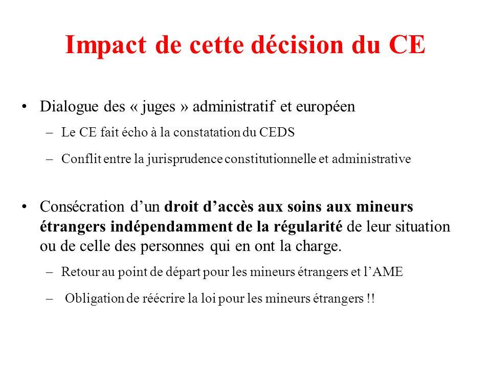 Impact de cette décision du CE