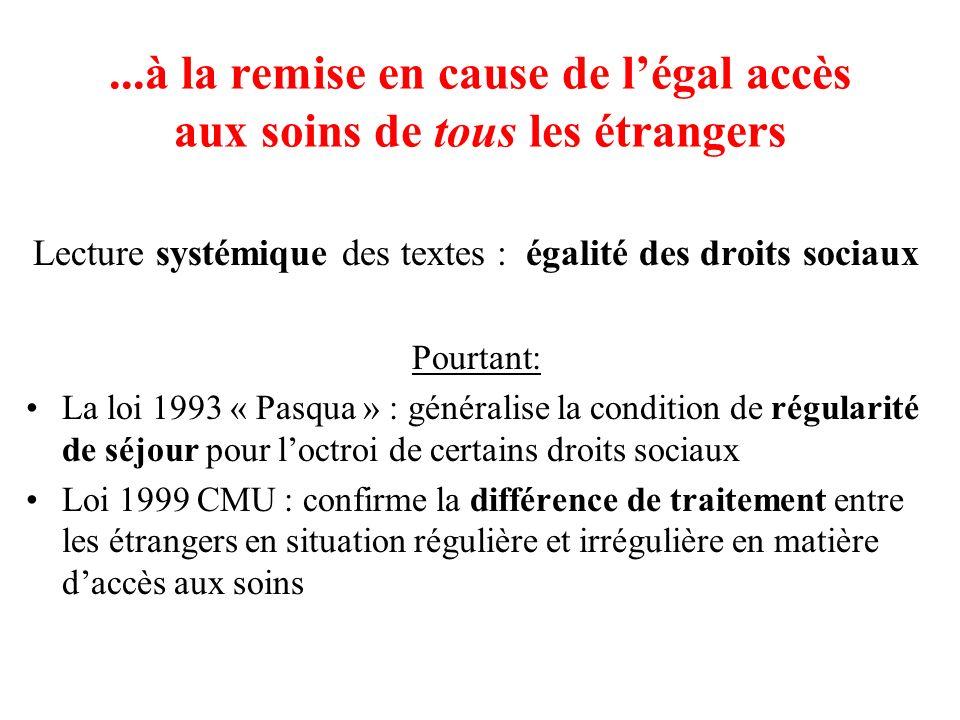 Lecture systémique des textes : égalité des droits sociaux