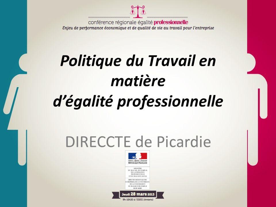Politique du Travail en matière d'égalité professionnelle DIRECCTE de Picardie