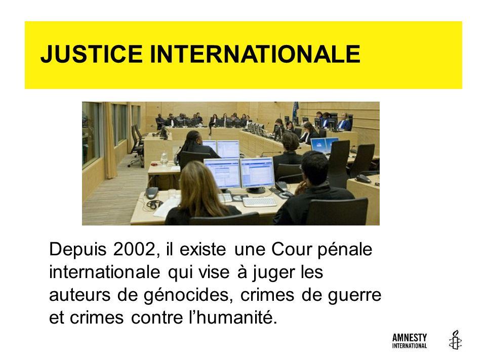 JUSTICE INTERNATIONALE
