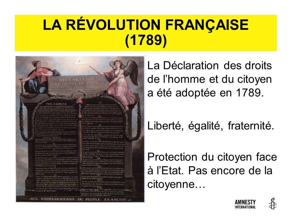 LA RÉVOLUTION FRANÇAISE (1789)