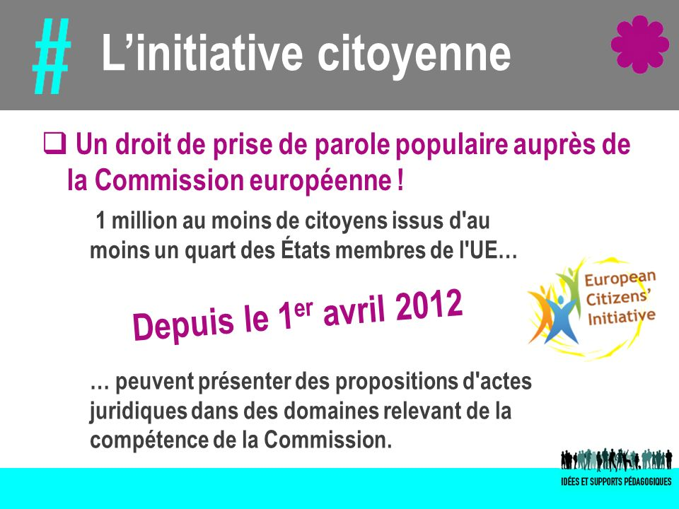 L'initiative citoyenne