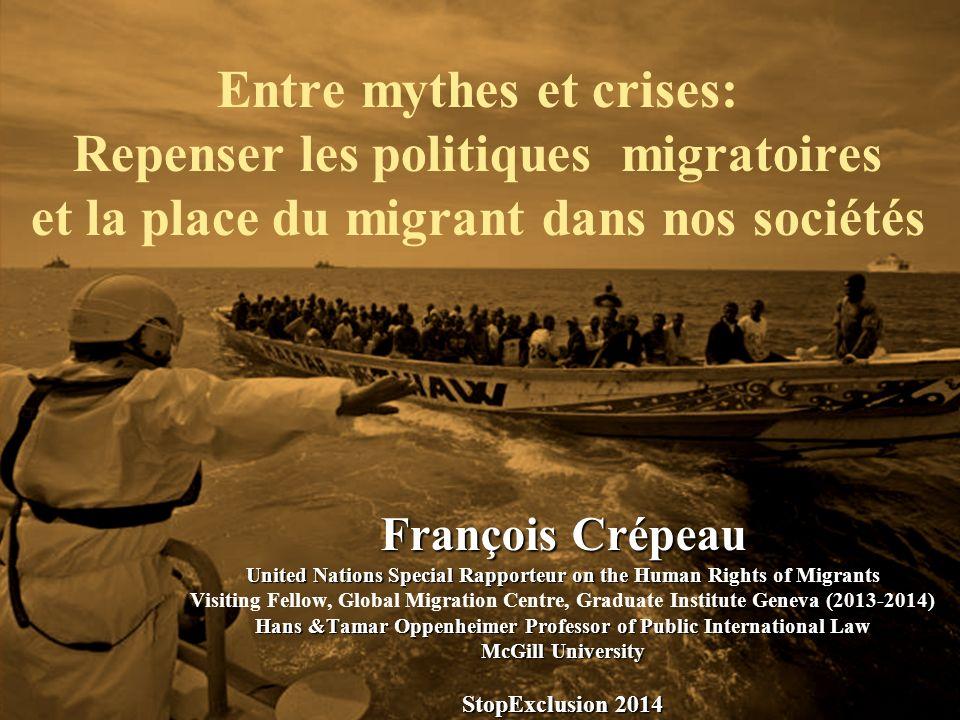 Entre mythes et crises: Repenser les politiques migratoires et la place du migrant dans nos sociétés