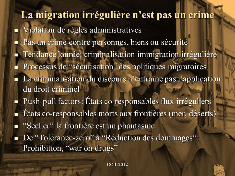 La migration irrégulière n'est pas un crime