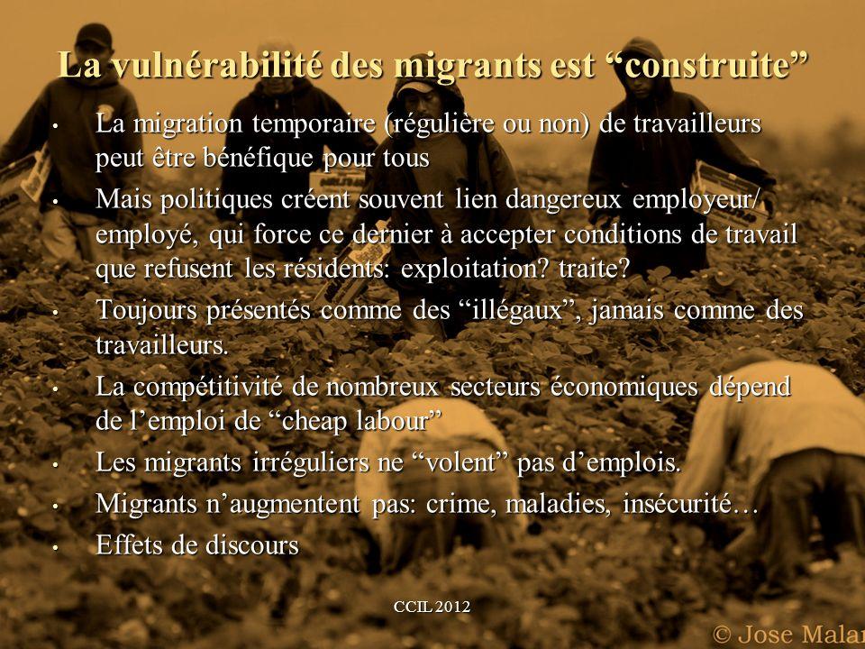 La vulnérabilité des migrants est construite