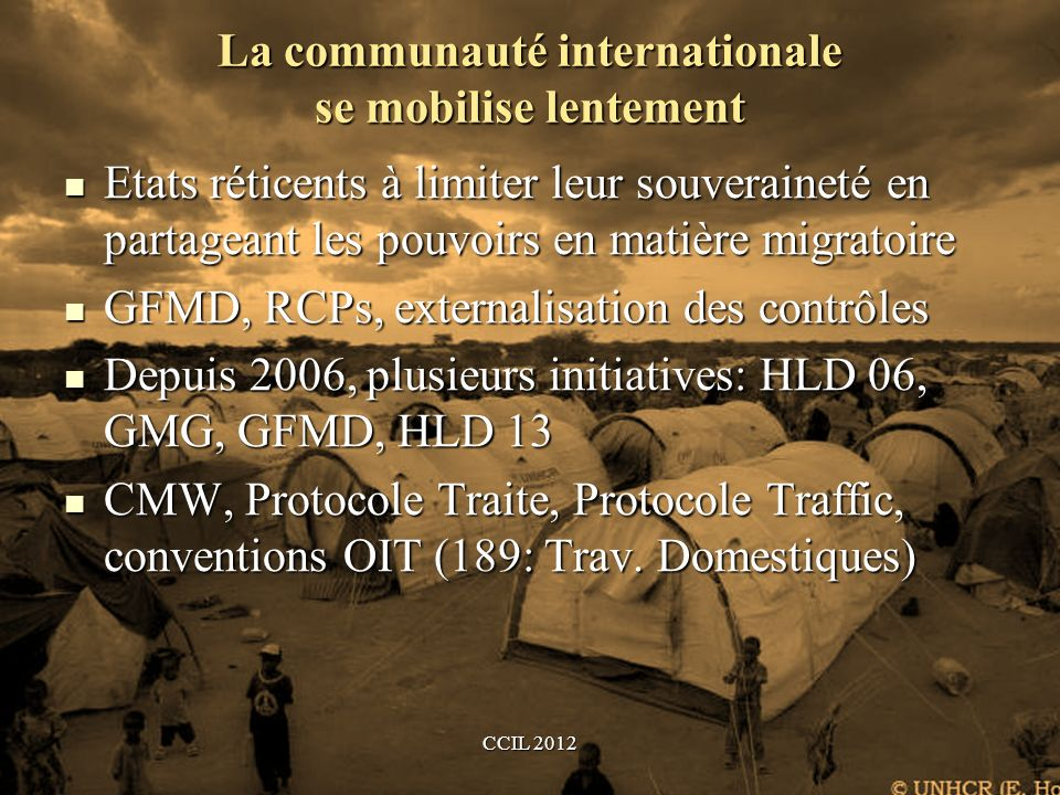 La communauté internationale se mobilise lentement