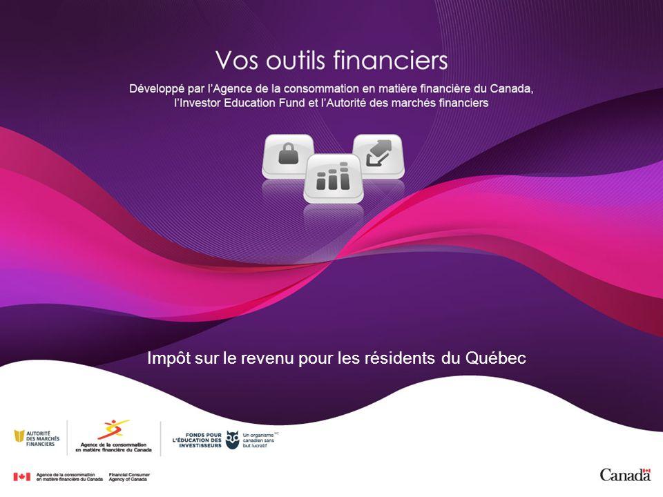Impôt sur le revenu pour les résidents du Québec