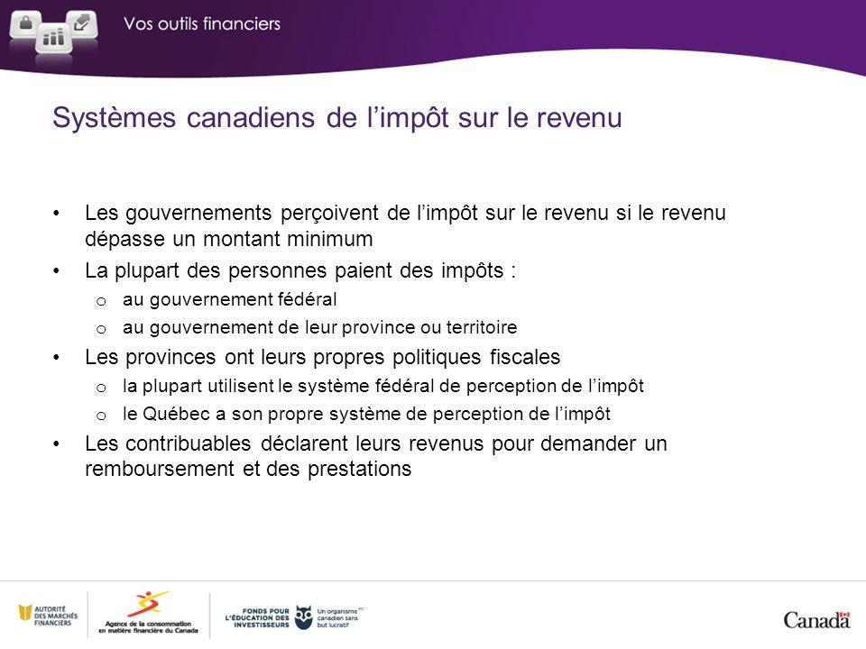 Systèmes canadiens de l'impôt sur le revenu
