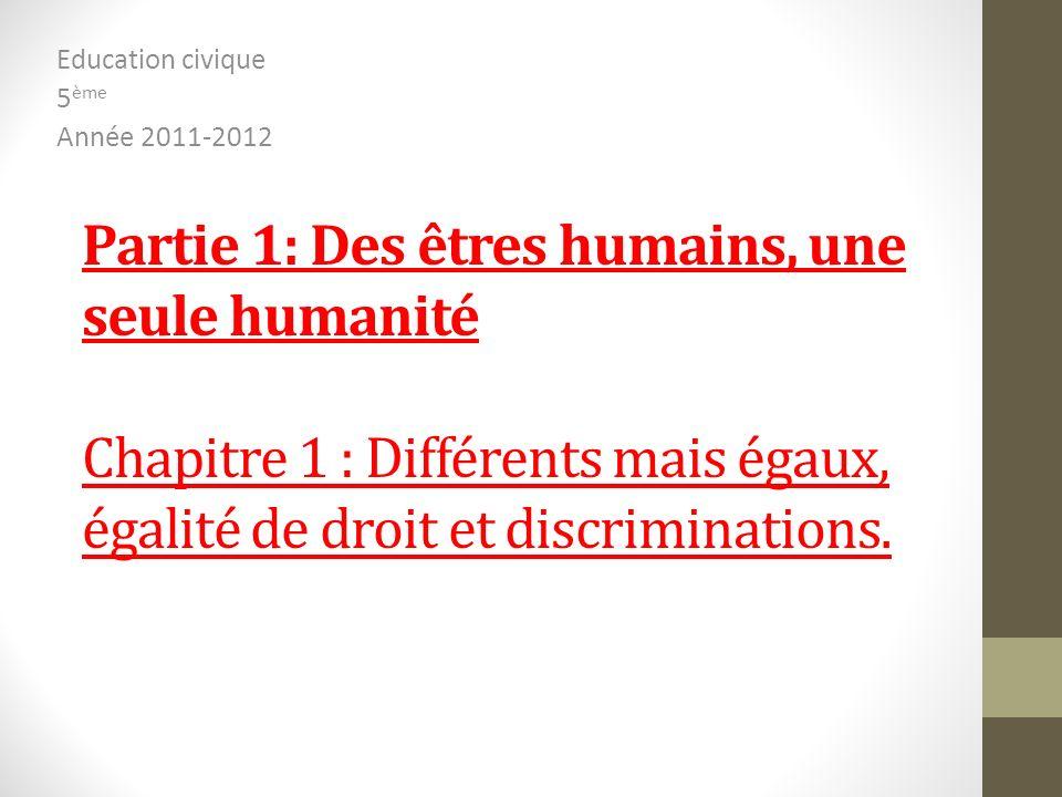 Education civique 5ème Année 2011-2012