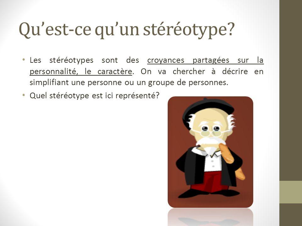 Qu'est-ce qu'un stéréotype