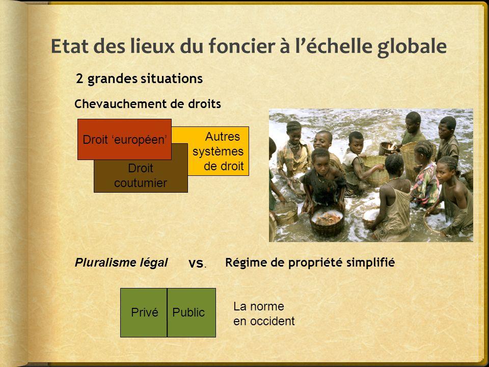 Etat des lieux du foncier à l'échelle globale