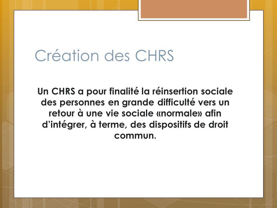 Création des CHRS