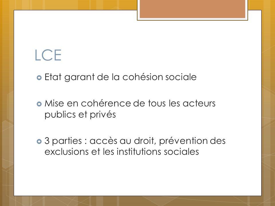 LCE Etat garant de la cohésion sociale