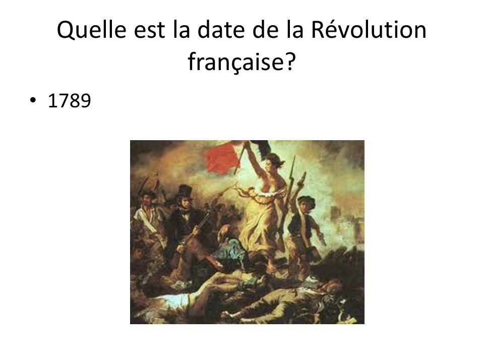 Quelle est la date de la Révolution française