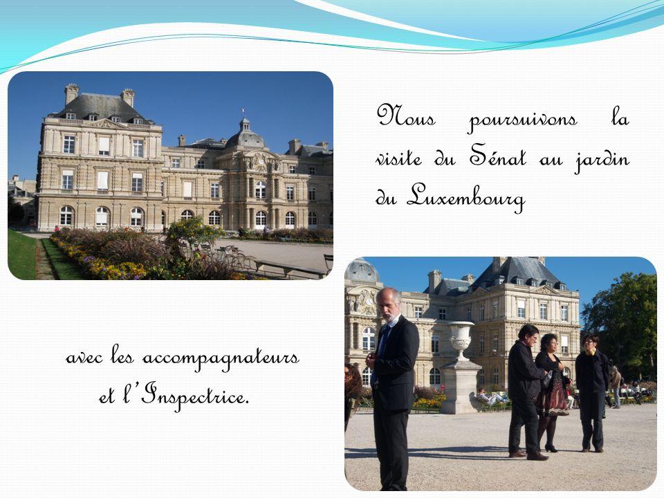 Nous poursuivons la visite du Sénat au jardin du Luxembourg