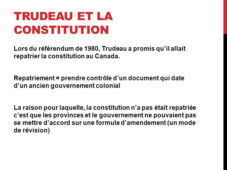Trudeau et la constitution