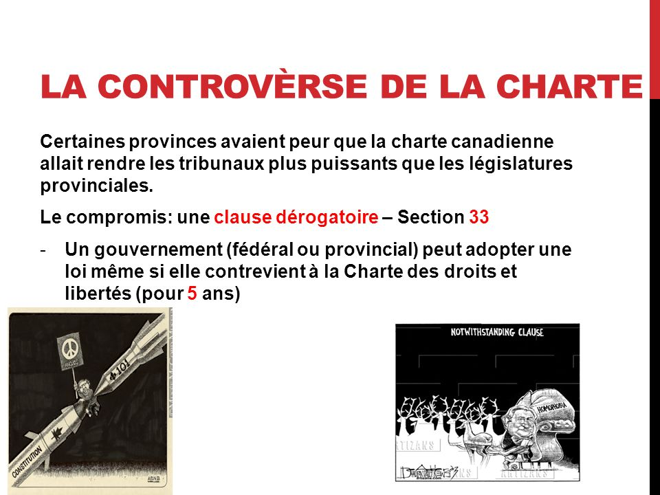 La controvèrse de la charte