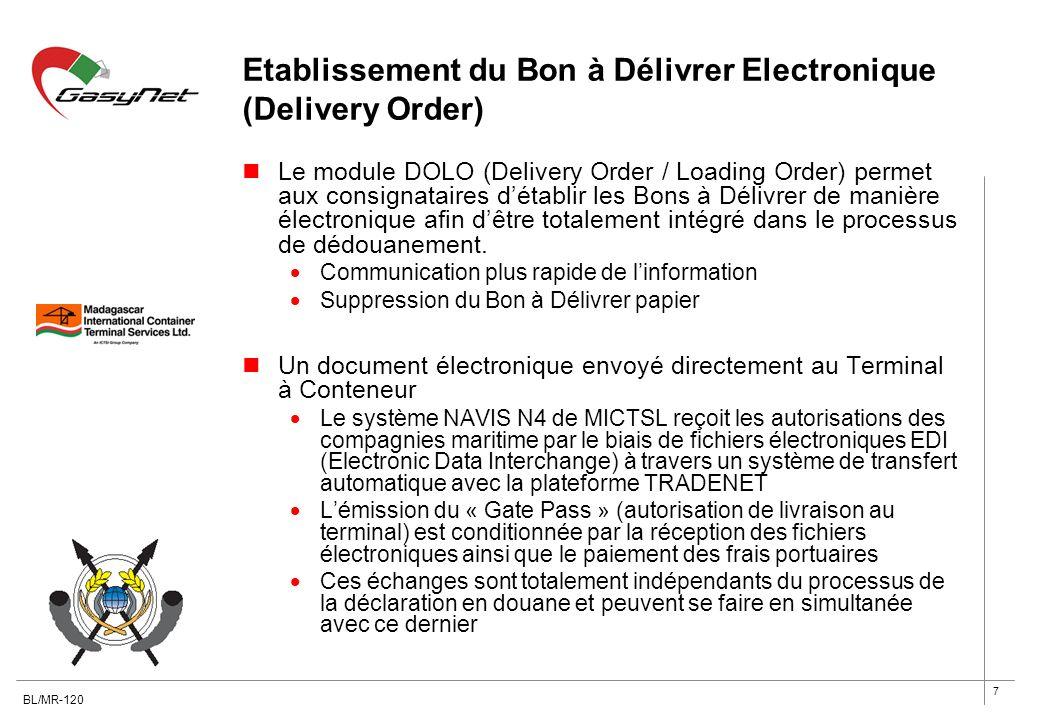 Etablissement du Bon à Délivrer Electronique (Delivery Order)