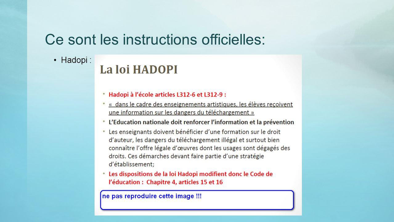 Ce sont les instructions officielles: