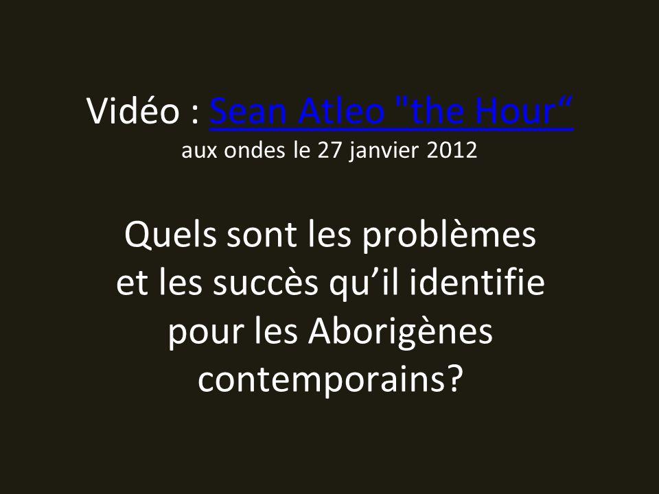 Vidéo : Sean Atleo the Hour aux ondes le 27 janvier 2012