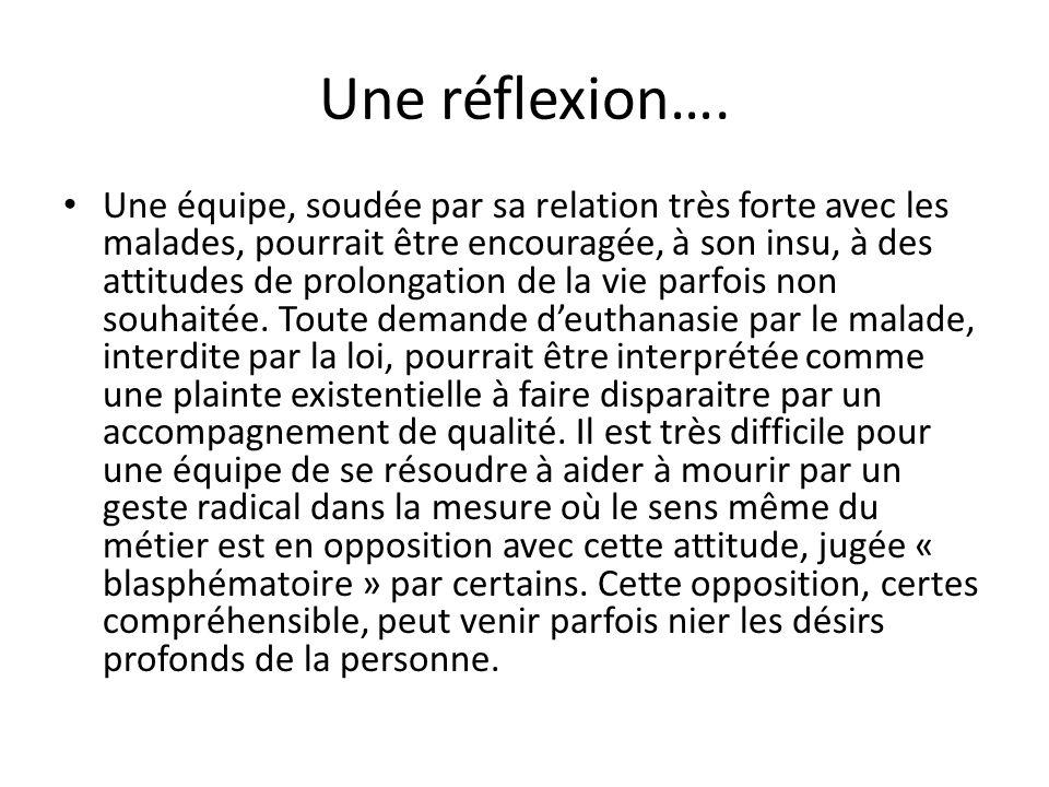 Une réflexion….