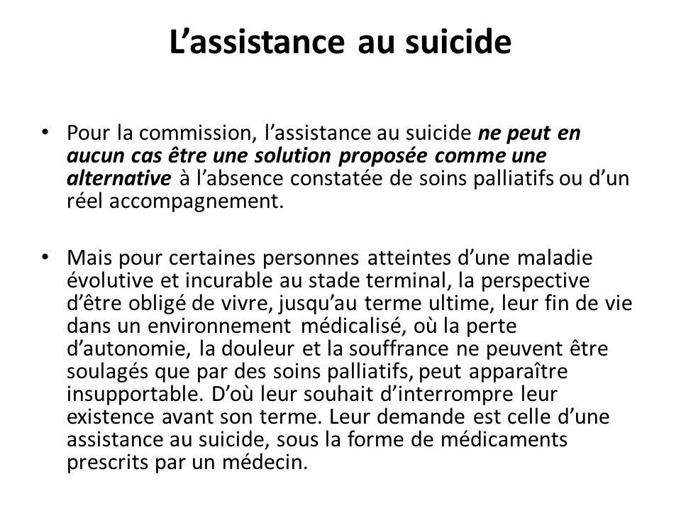 L'assistance au suicide