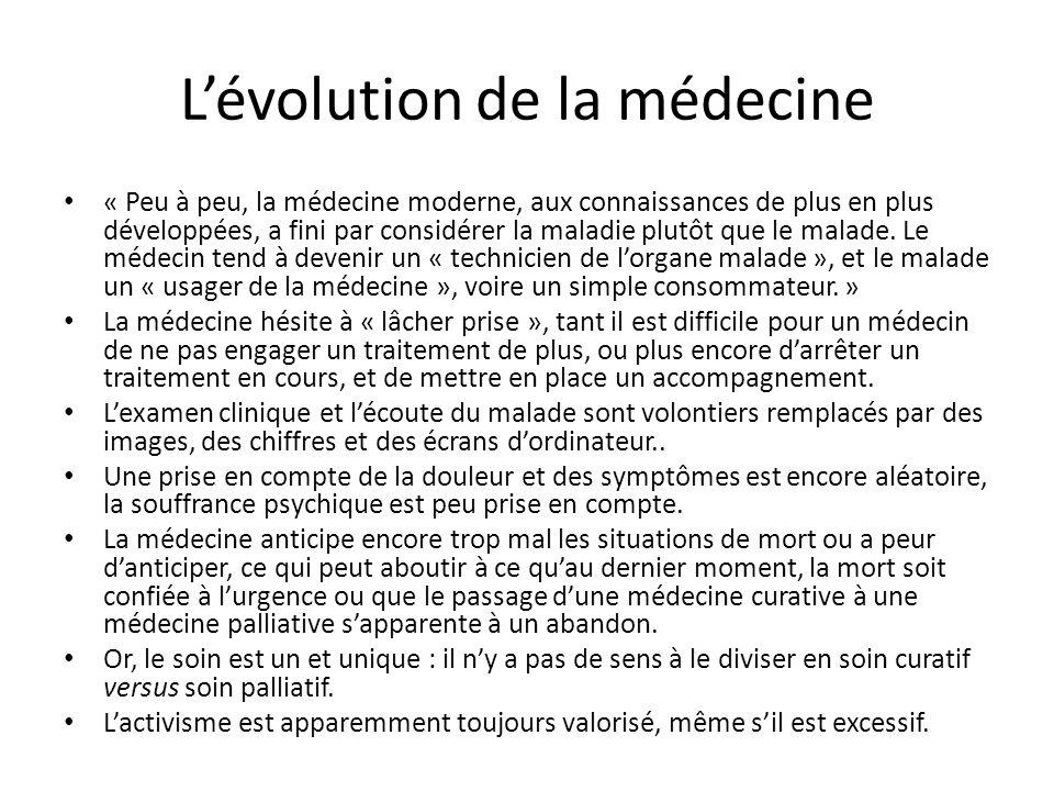 L'évolution de la médecine