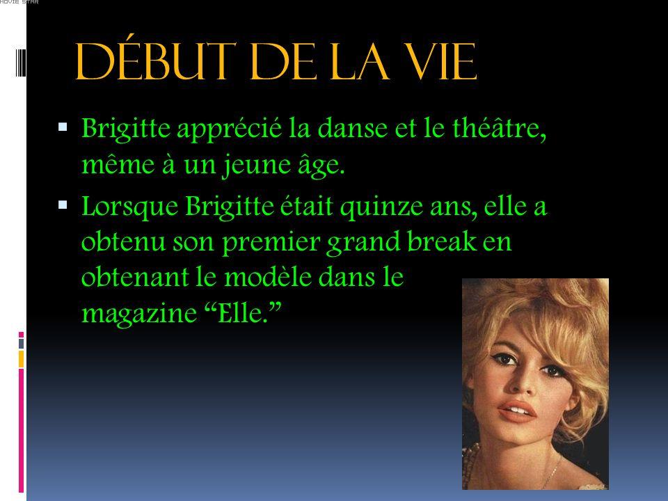 DéBUT DE LA VIE Brigitte apprécié la danse et le théâtre, même à un jeune âge.