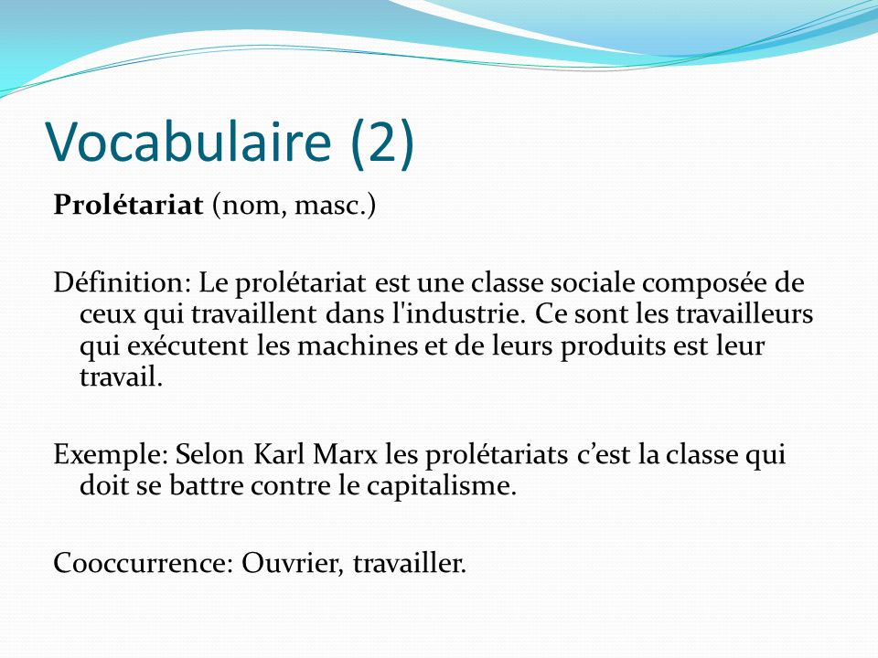 Vocabulaire (2)