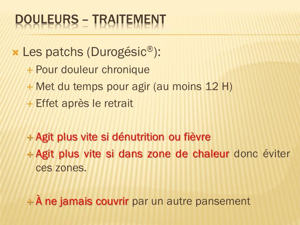 Les patchs (Durogésic®):