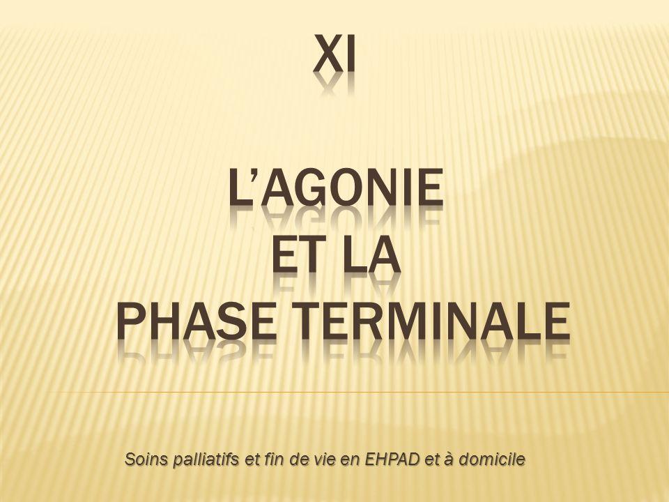 XI L'Agonie et la phase terminale