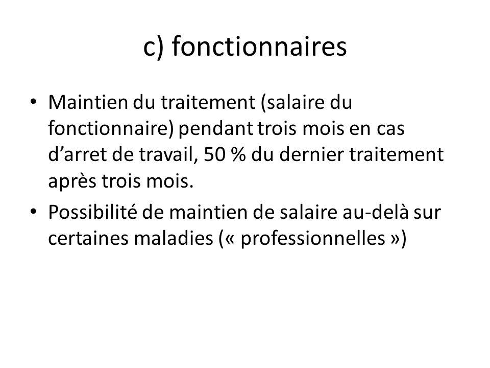 c) fonctionnaires