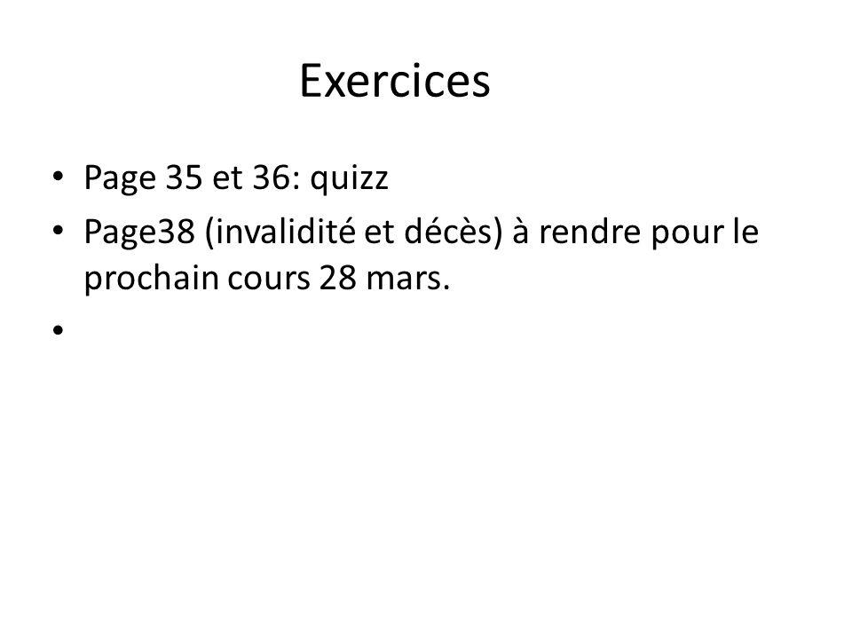 Exercices Page 35 et 36: quizz