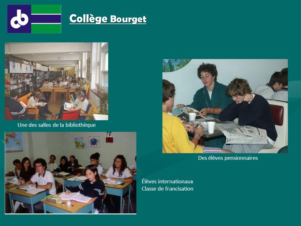 Collège Bourget Une des salles de la bibliothèque