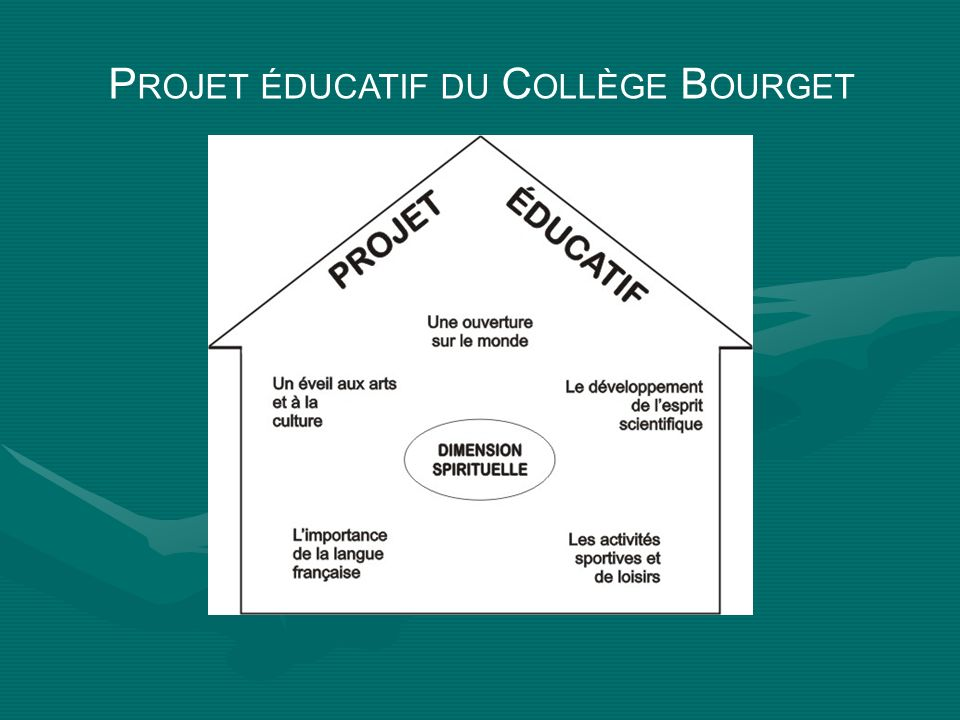Projet éducatif du Collège Bourget