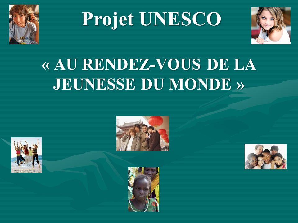 « AU RENDEZ-VOUS DE LA JEUNESSE DU MONDE »