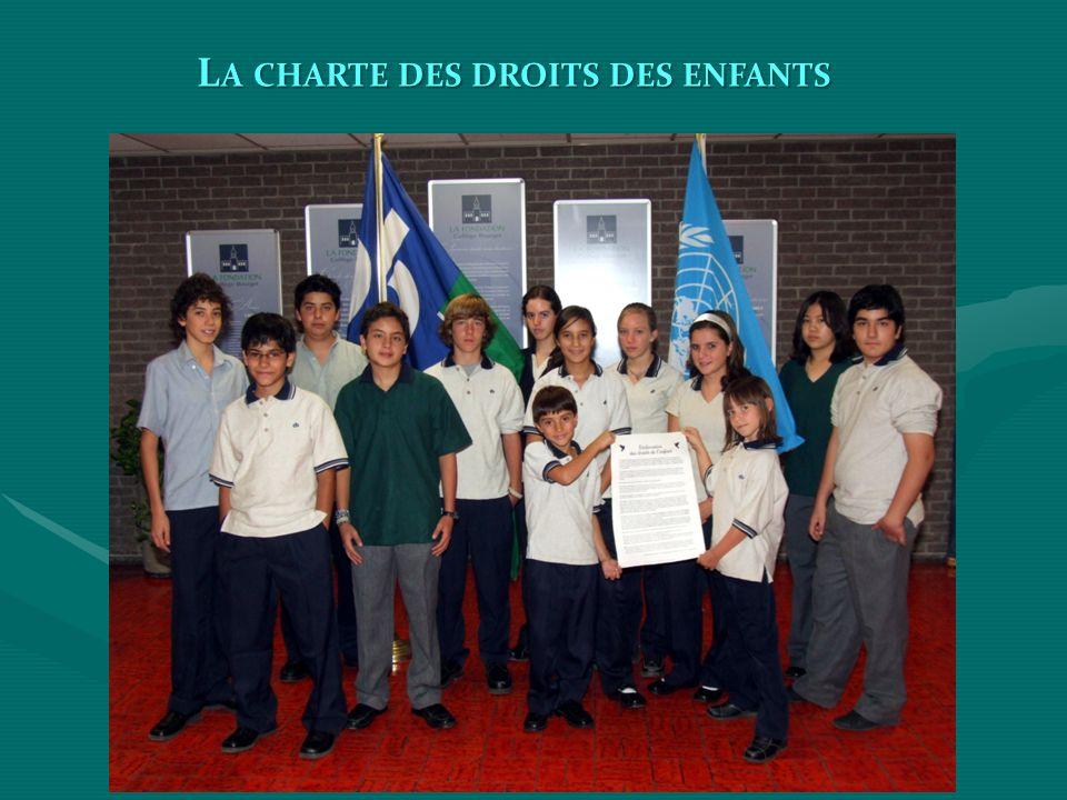 La charte des droits des enfants