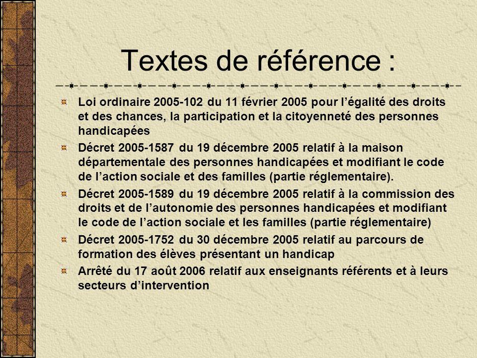 Textes de référence :