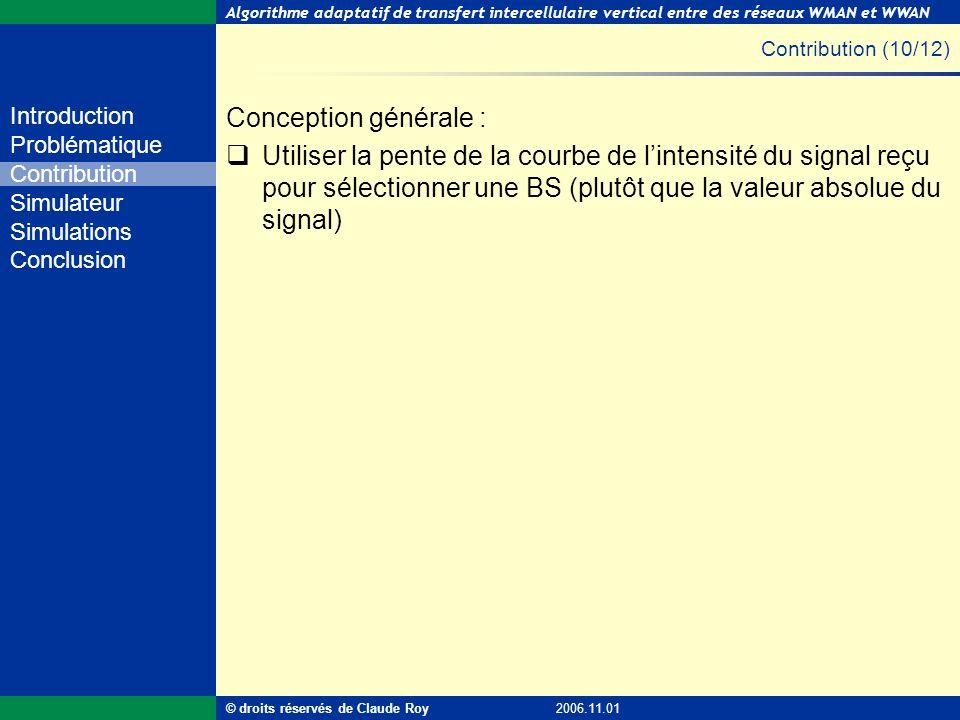 Contribution (10/12) Conception générale :