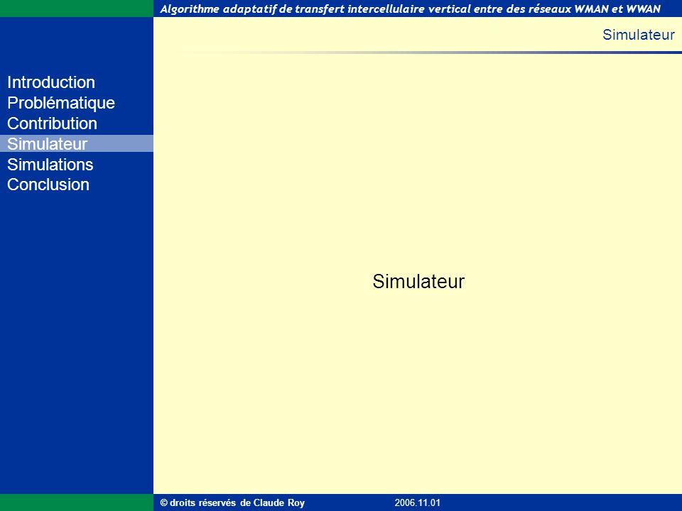 Simulateur Simulateur © droits réservés de Claude Roy 2006.11.01